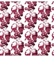 Seamless pattern with red berries vector image vector image
