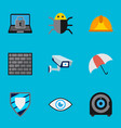 set of 9 editable safety icons includes symbols vector image vector image