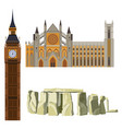 sightseeing of great britain westminster abbey vector image