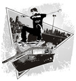 Slide Skater vector image vector image