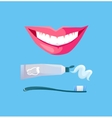 Smile with White Tooth vector image
