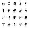 Spa treatment icons with reflect on white vector image vector image