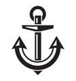 steel anchor icon simple style vector image