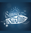 summer for serfing vector image vector image