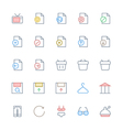 User Interface Colored Line Icons 36 vector image vector image