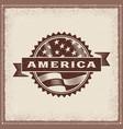 vintage america label vector image