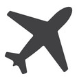 airplane glyph icon web and mobile flight mode vector image