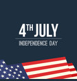 4th of july waving usa flag background vector image