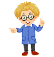A kid wearing glasses vector image vector image