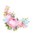 a spring decorative bouquet of roses flowers vector image vector image