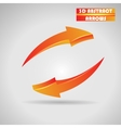 abstract orange arrows 3d vector image vector image