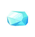 aquamarine blue gemstone isolated emerald vector image
