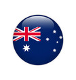 australia flag on button vector image