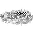 bartender school text word cloud concept vector image vector image
