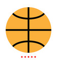 basketball ball icon different color vector image vector image