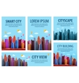 Big modern city banners of the urban vector image vector image