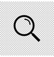 black magnifying glass icon on transparent vector image vector image