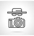 Black simple line spy icon vector image vector image