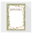 Blank diploma as a roll of old paper vector image vector image