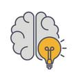 brainstorm line icon lightning in brain vector image