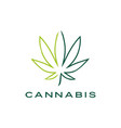 cannabis leaf logo icon vector image vector image