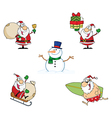 Christmas Cartoon Characters vector image vector image