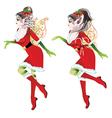 Christmas Elf Girl3 vector image vector image