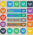 Cock-fights icon sign Set of twenty colored flat vector image