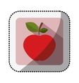 color square with middle shadow sticker with apple vector image vector image