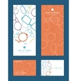 colorful glasses vertical frame pattern vector image vector image