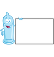 Condom Cartoon Mascot Character vector image