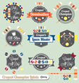 Croquet Champion Labels and Icons vector image vector image