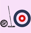 Curling game element vector image