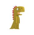 cute boy in green dinosaur costume kid dressed vector image vector image