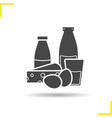 Dairy icon vector image vector image