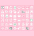 dentist and dental clinic related icon sticker vector image