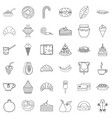 dessert icons set outline style vector image vector image