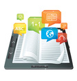 E-learning concept - electronic book - vector | Price: 3 Credits (USD $3)