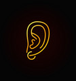 ear piercing golden icon - symbol or design vector image