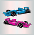 formula 1 car fit for racing themes flat color vector image vector image