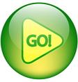 GO button vector image vector image