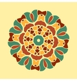 Green and brown mandala ornament symmetry seamless vector image vector image