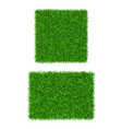 green grass background 3d set isolated lawn vector image vector image