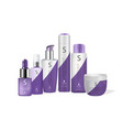 hair care packaging mock up set vector image
