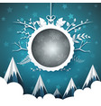 happy new year merry christmas ball - winter vector image vector image