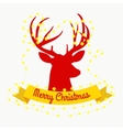 happy reindeer on the eve of New Year and vector image vector image