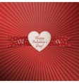 Happy Valentines Day realistic paper Heart Label vector image vector image