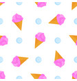 ice cream in a waffle cone and lollipop summer vector image vector image