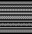 irish celtic seamless border pattern vector image