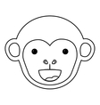 Isolated monkey cartoon design vector image vector image